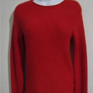 Classic red crew neck sweater from Gap